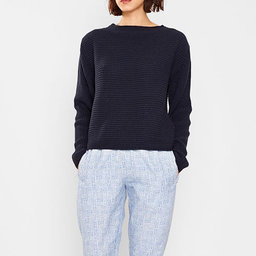 Angela, Organic Cotton Ribbed Sweater