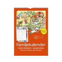 Väggkalender 20-21 Familjekalender med stickers