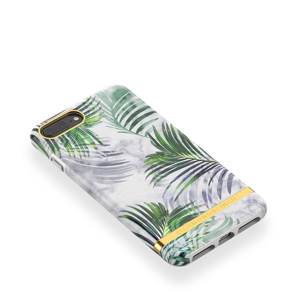 Mobilskal iPhone 6/7/8 PLUS White Marble Tropics