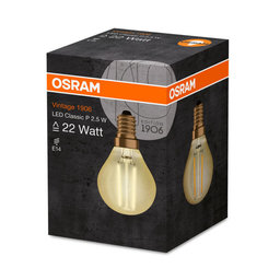 LED-lampa CL P 22 Klot E14 Filament Gold
