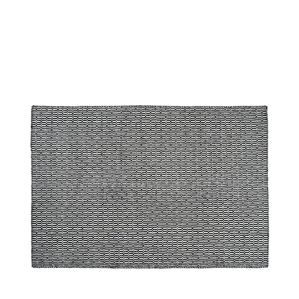 Matta Tile 160×230 cm svart/vit