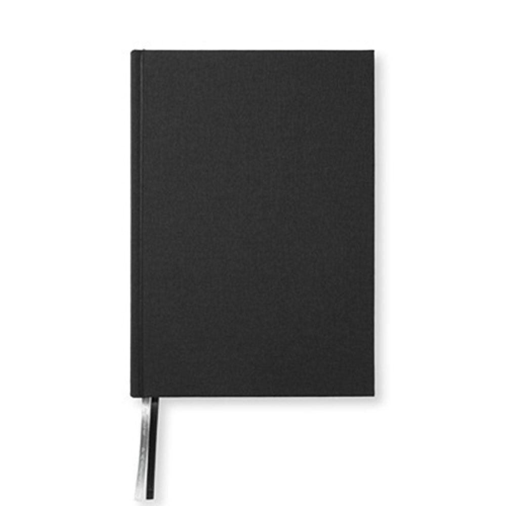 Anteckningsbok A5 256 blanka sidor svart