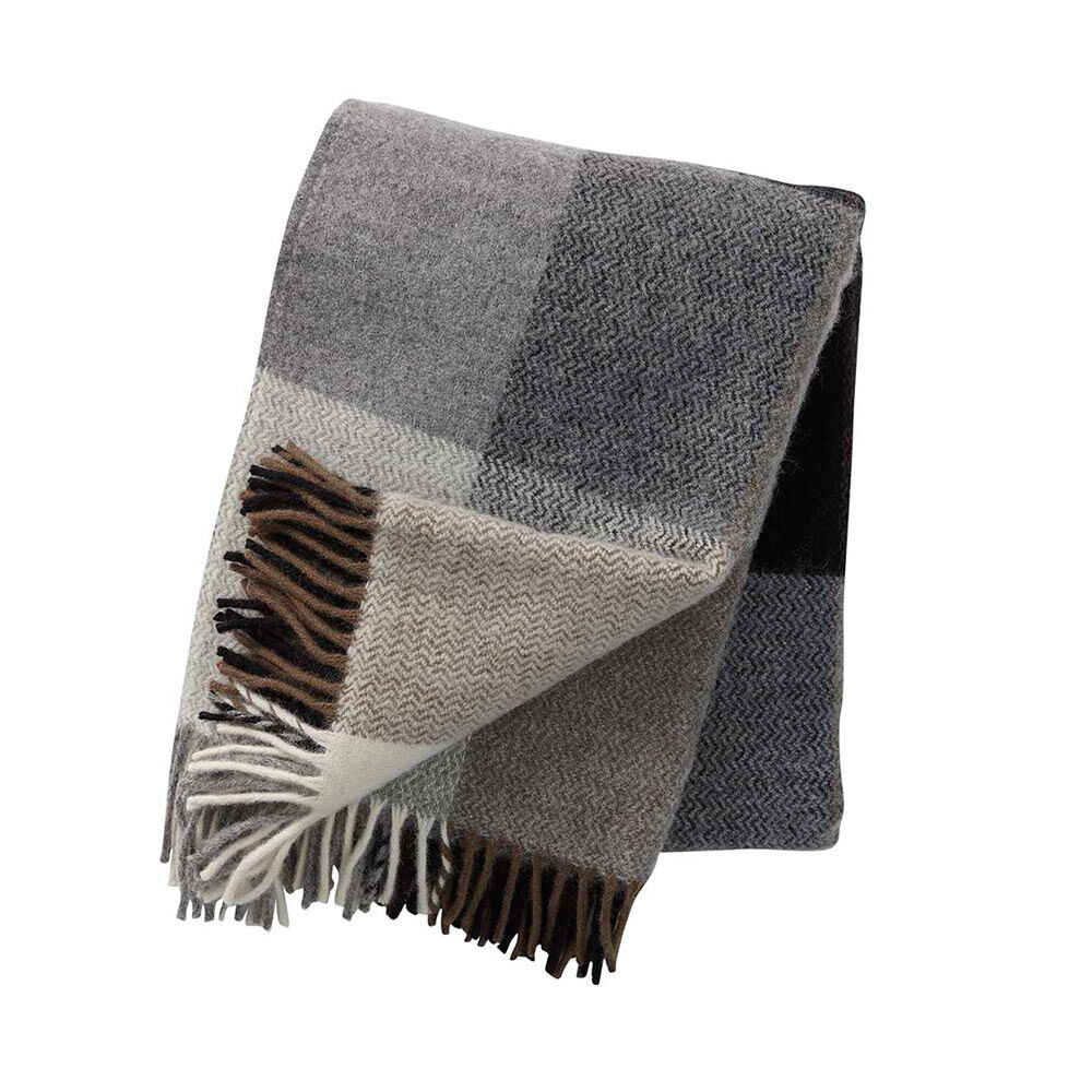 Pläd Inez 130×200 cm grå