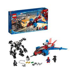 76150 Super Heroes: Spiderjet vs Venoms robot