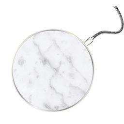 Trådlös laddare vit marmor