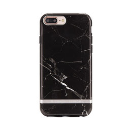 Mobilskal iPhone 6/6S/7/8 PLUS Black Marble silver details