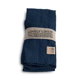 Linneservett 45 x 45 cm 4-pack Midnight blue