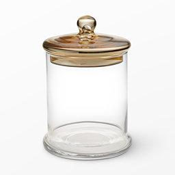 Förvaringsburk i glas 225 cm