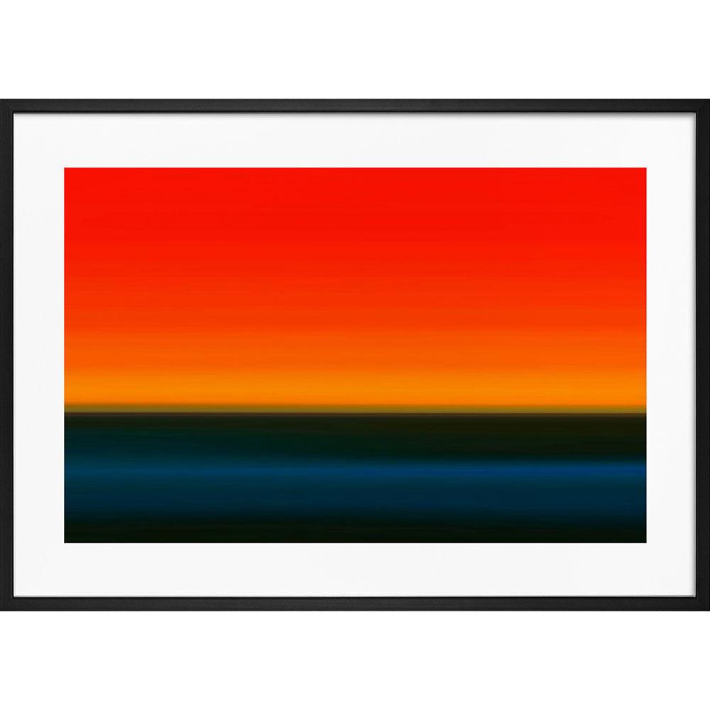 Poster Orange & Blå horizont