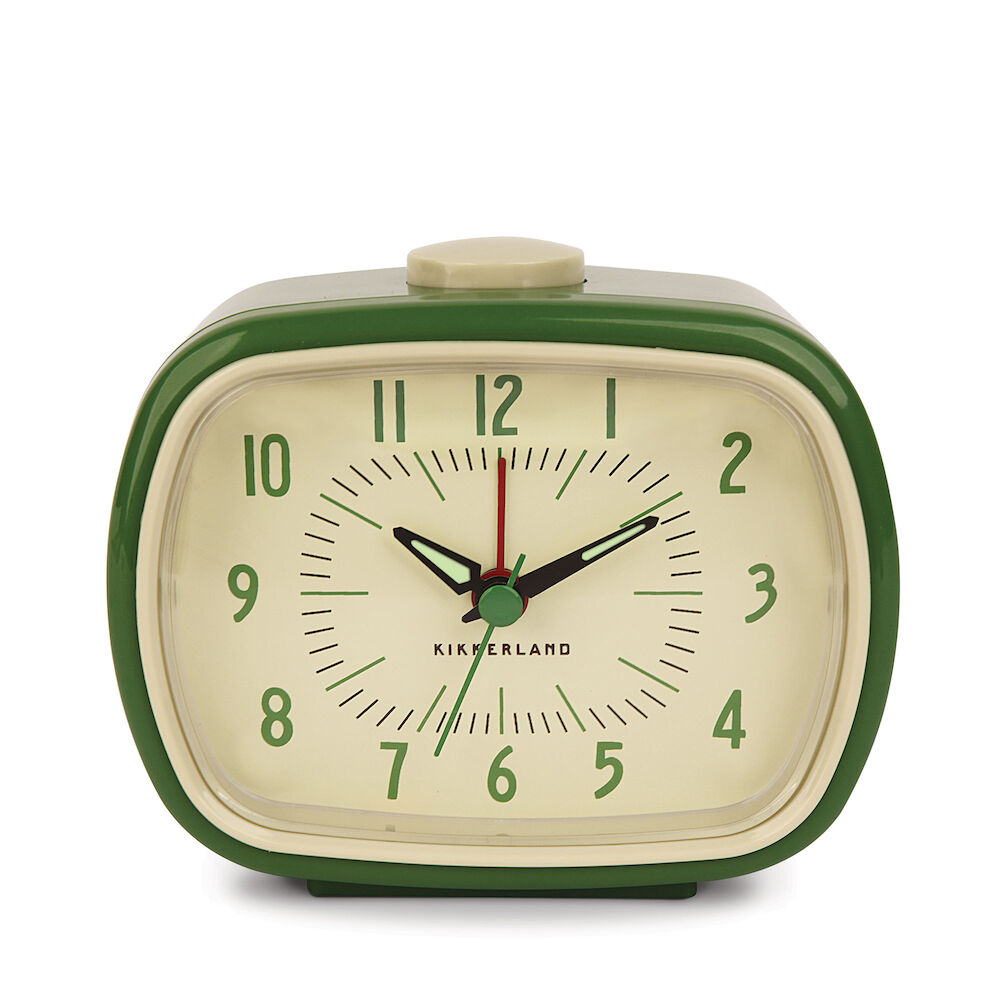 Retro Alarm Clock + Green