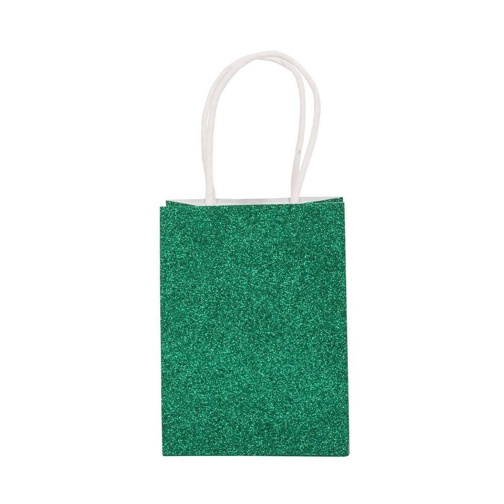 Presentpåse Glitter Xmas 12×16 cm