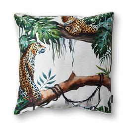 Kuddfodral Cheetah 50×50 cm White