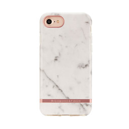 Mobilskal iPhone X White Marble rose gold details