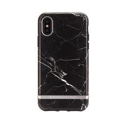 Mobilskal iPhone X Black Marble silver details