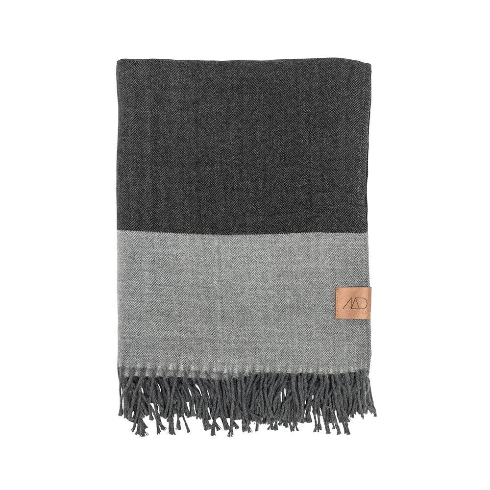 Pläd Memo 120×175 cm grå