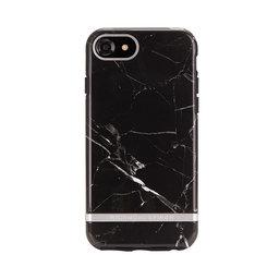 Mobilskal iPhone 6/6S/7/8 Black Marble silver details