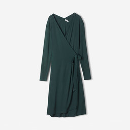 Drapey Crepe Wrap Dress