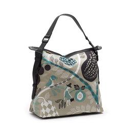 Skötväska, Messenger/Changing Bag Fruit Garden Gray