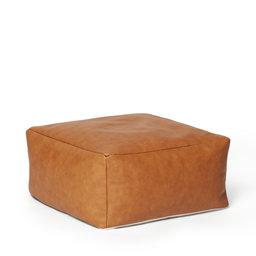 Puff i läder 50x25x50 cm