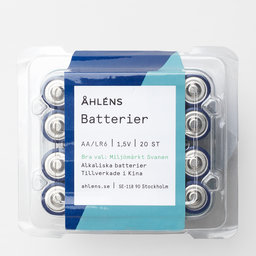 Batterier AA 20 st