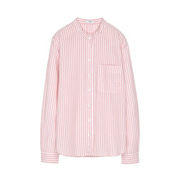 Shirt Blouse with Stand Up Collar