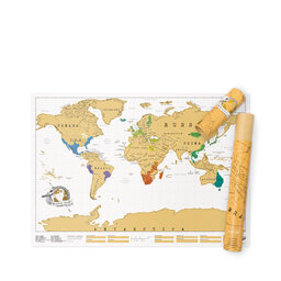 Poster Scratch Map Världskarta