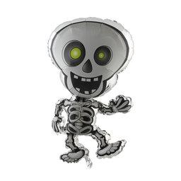 Folieballong Skelett