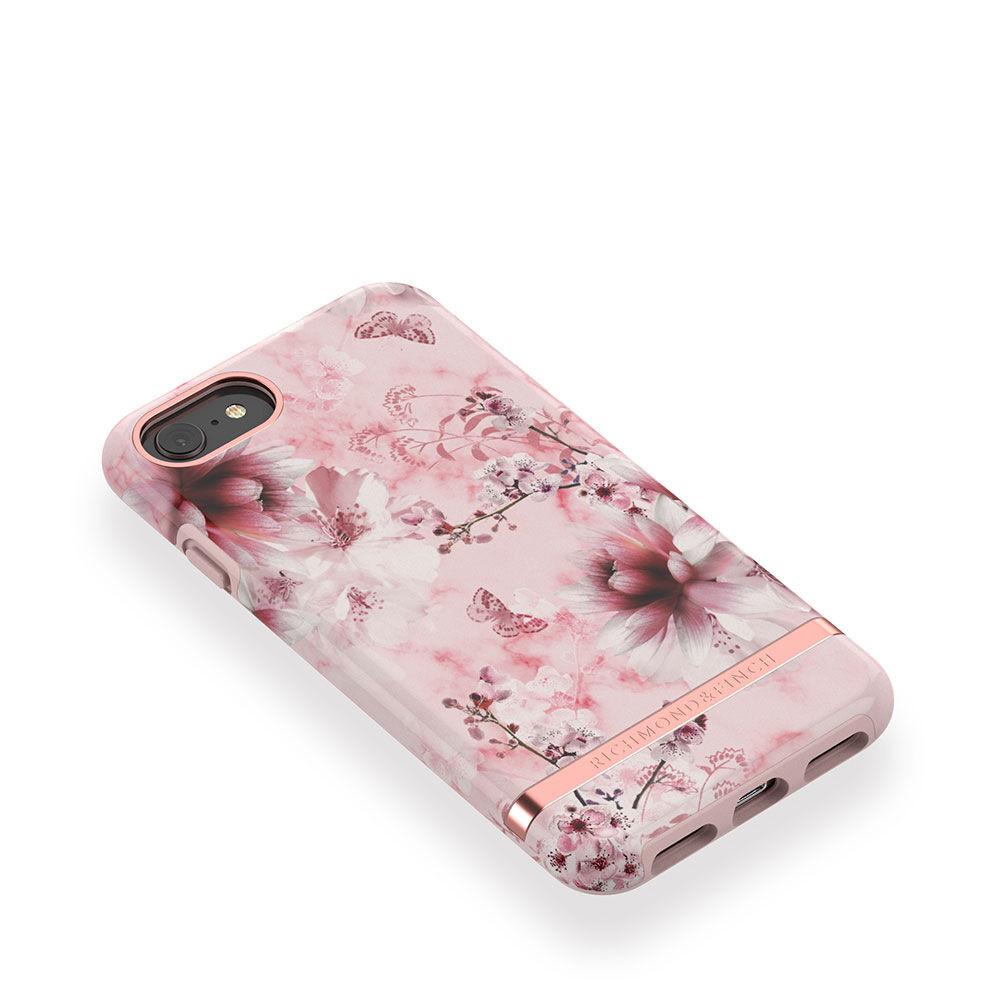 Mobilskal iPhone 6/7/8 Pink Marble Floral