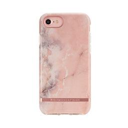 Mobilskal iPhone 6/6S/7/8 Pink Marble rose gold details