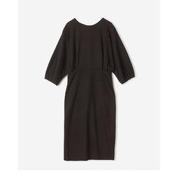 Volume Sleeve Wool Dress