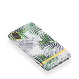 Mobilskal iPhone X/XS White Marble Tropics