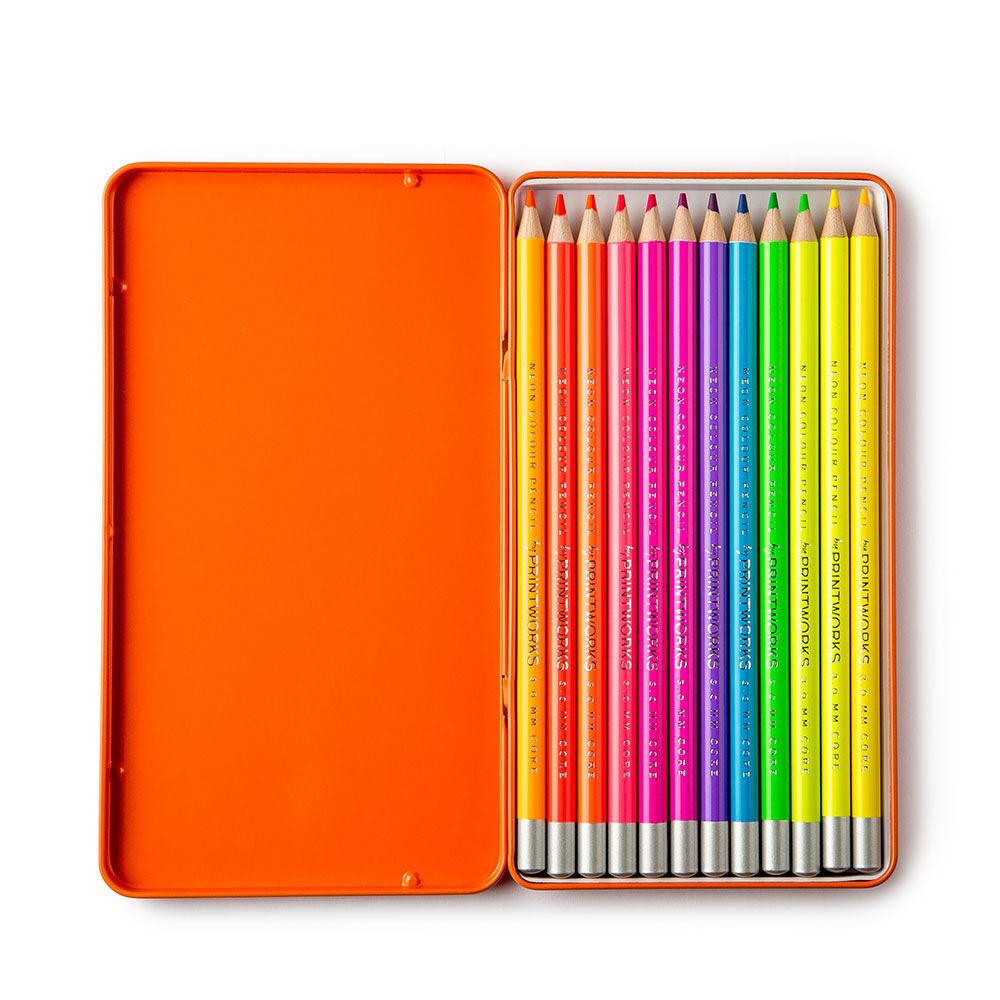 Färgpennor Neon 12 pack