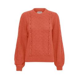 Sweatshirt, Petrina PU Knit pullover