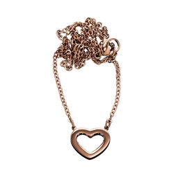 Monaco Heart Necklace Short, Rose