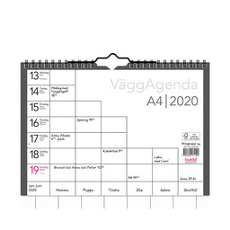 Väggkalender 2020 Väggagenda A4