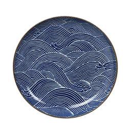 Tallrik Seigaiha Ø156 cm blå