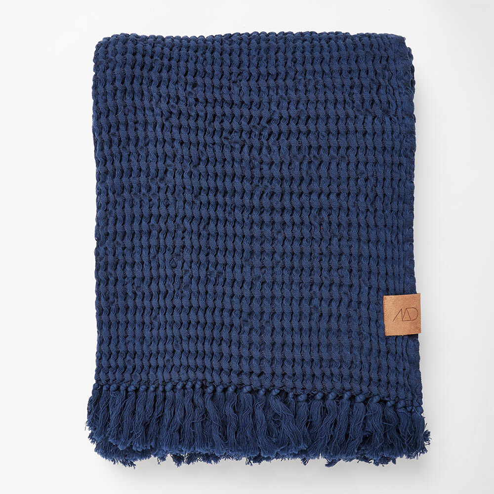 Pläd Cubic, 120x170 cm, midnight blue