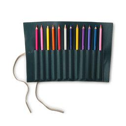 Färgpennor och pennfodral