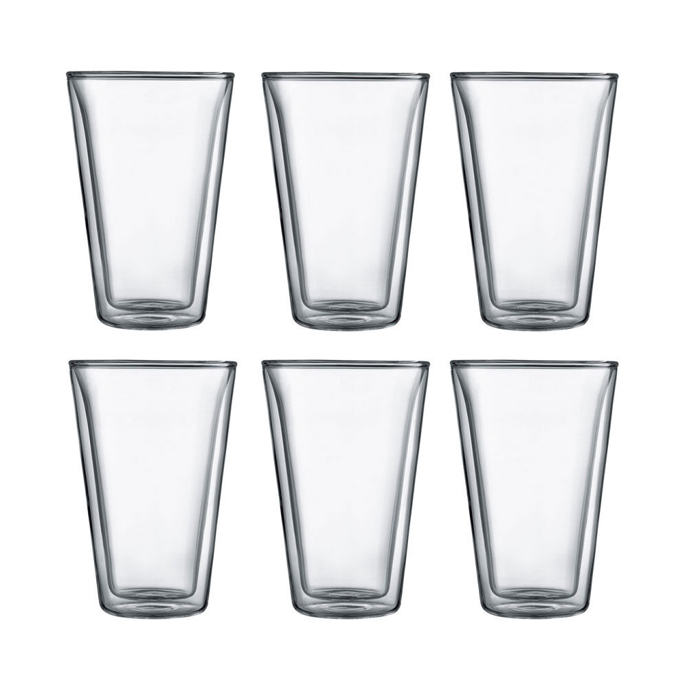 Glas med dubbelvägg 40 cl 6-pack