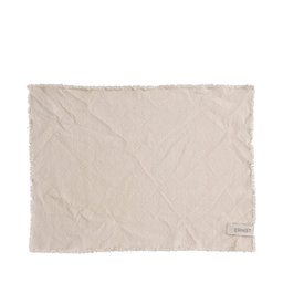 Tablett med fransad kant 35×48 cm natur