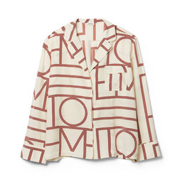 Salvador, Monogram Print silke Blouse