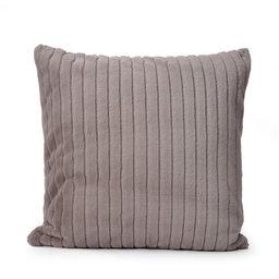Kuddfodral 50×50 C/c 50×50 Grey Stripe Fake Fur Collection