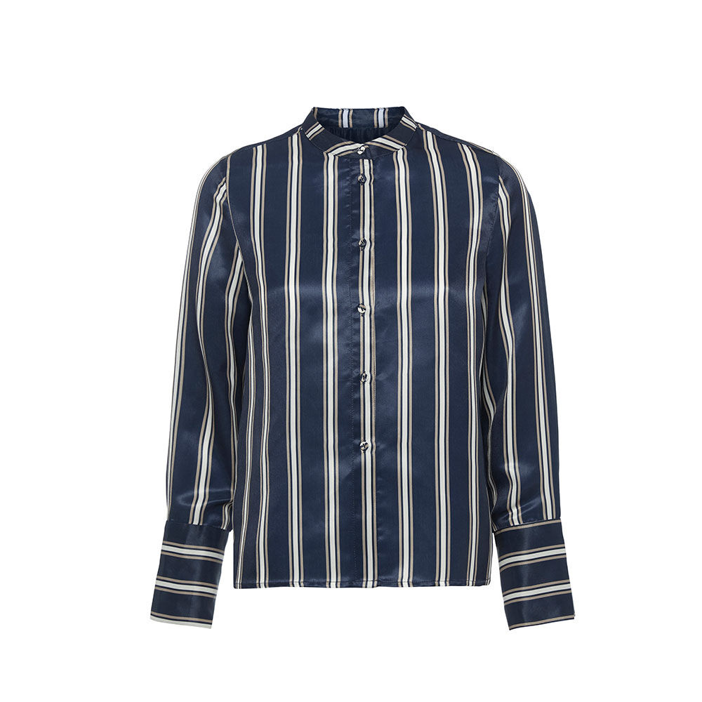 Long sleeved shirt navy striped