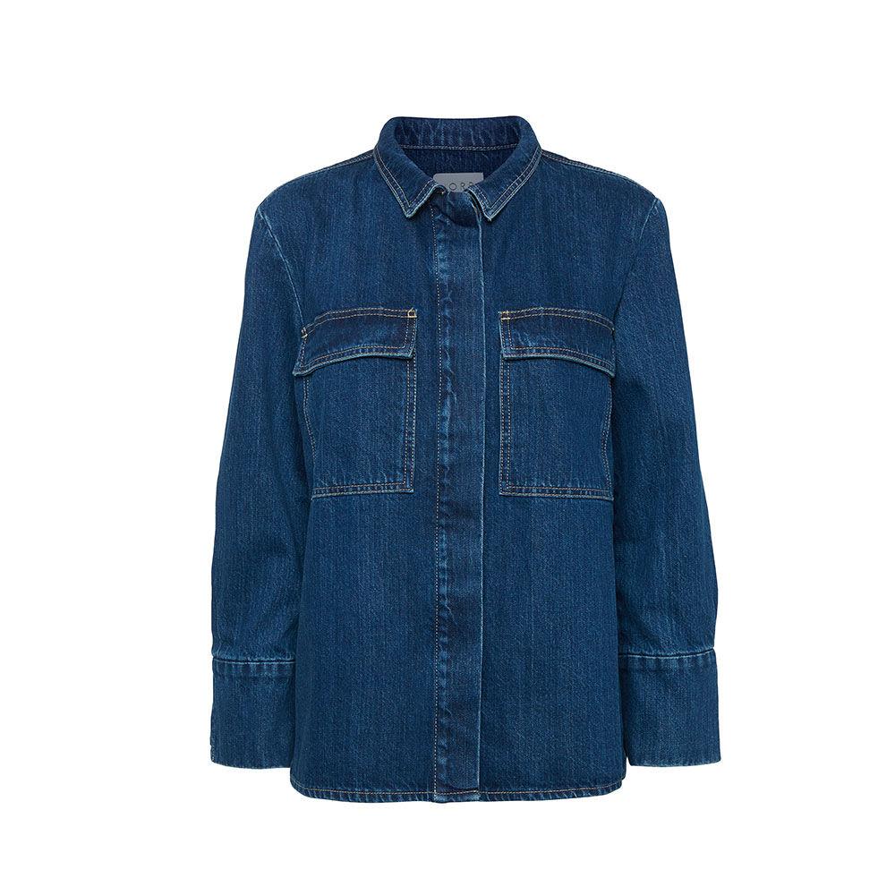 Denim shirt dark blue