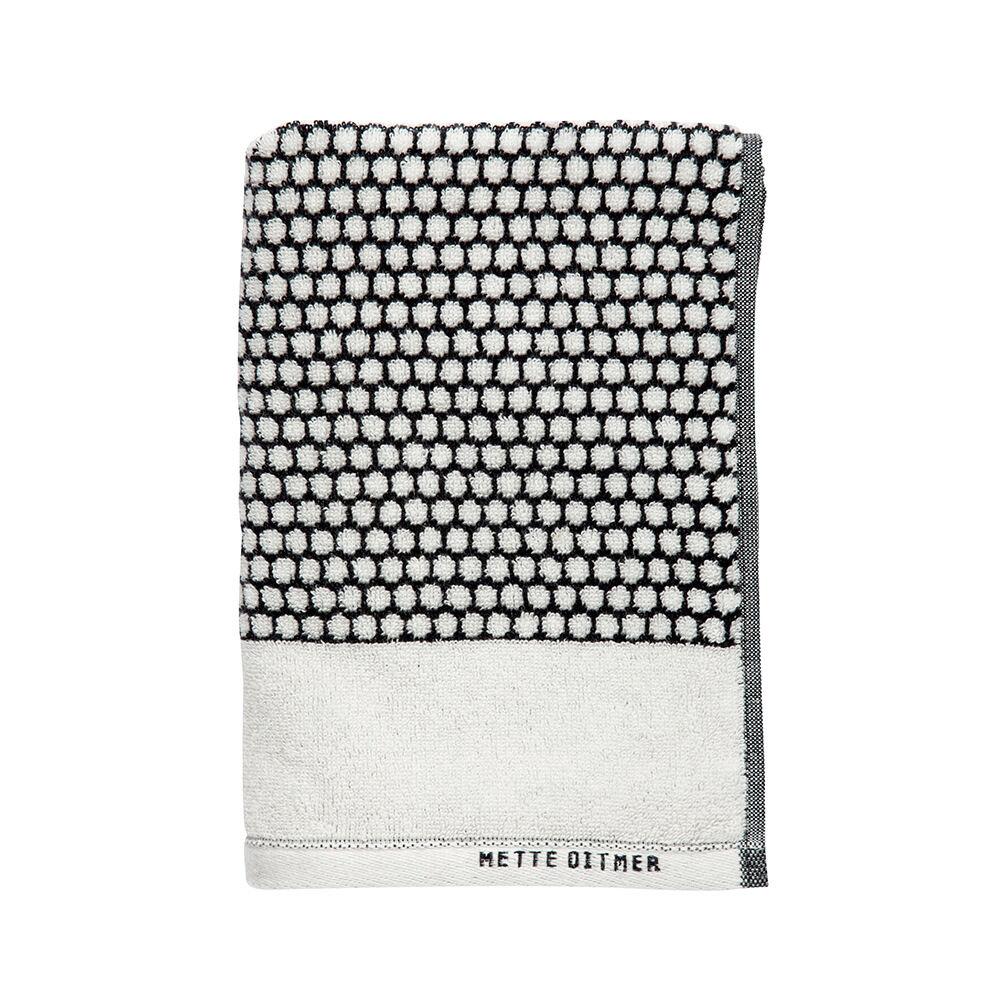 Handduk Grid 38×60. svart/vit