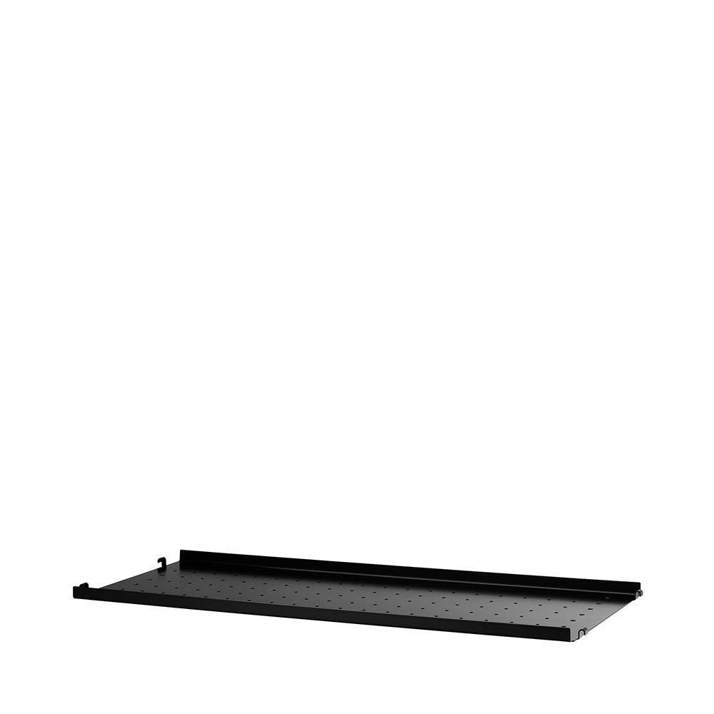 metallhyllplan låg kant b78 x d30 cm