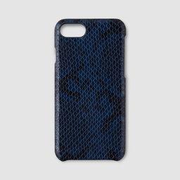 Mobilskal iPhone 7/8 – Blå ormskinnsimitation