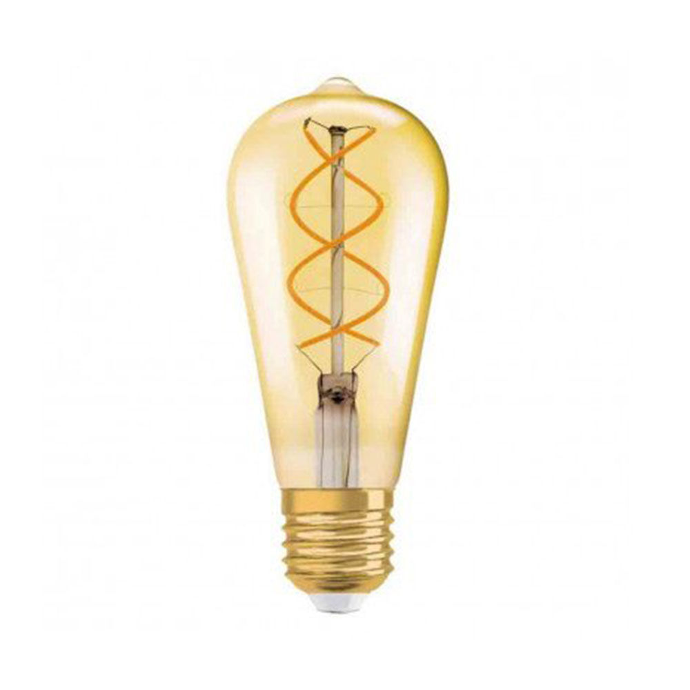 LED Edison 25 E27 SPIRAL FILAMENT GOLD