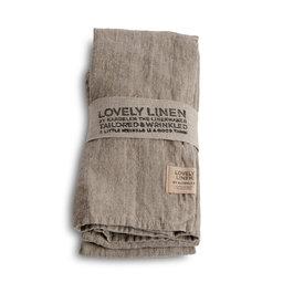 Linneservett 45 x 45 cm 4-pack Natural beige