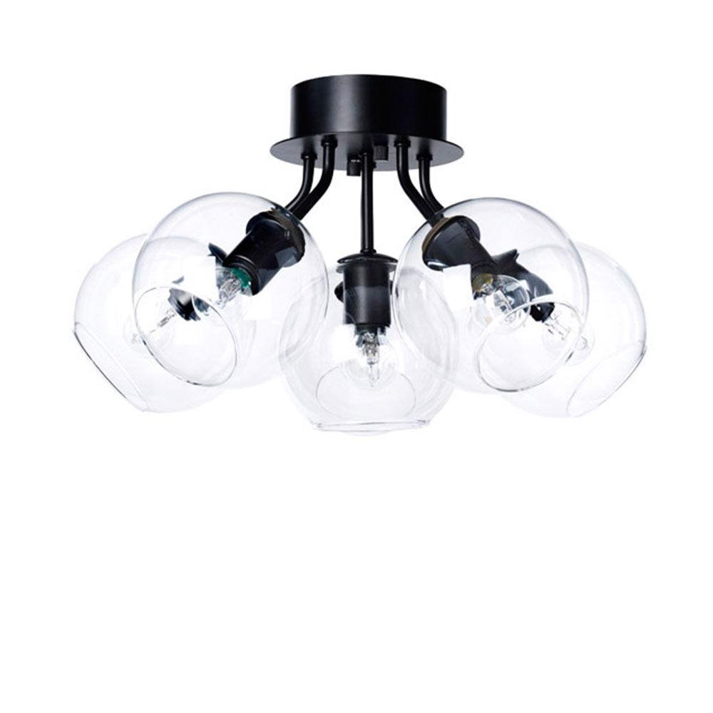 Plafondlampa TAGE 50. Svart/klar
